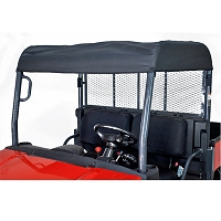 Fabric Sunshade Kit for Kubota RTVX900 & RTVX1120D - Black