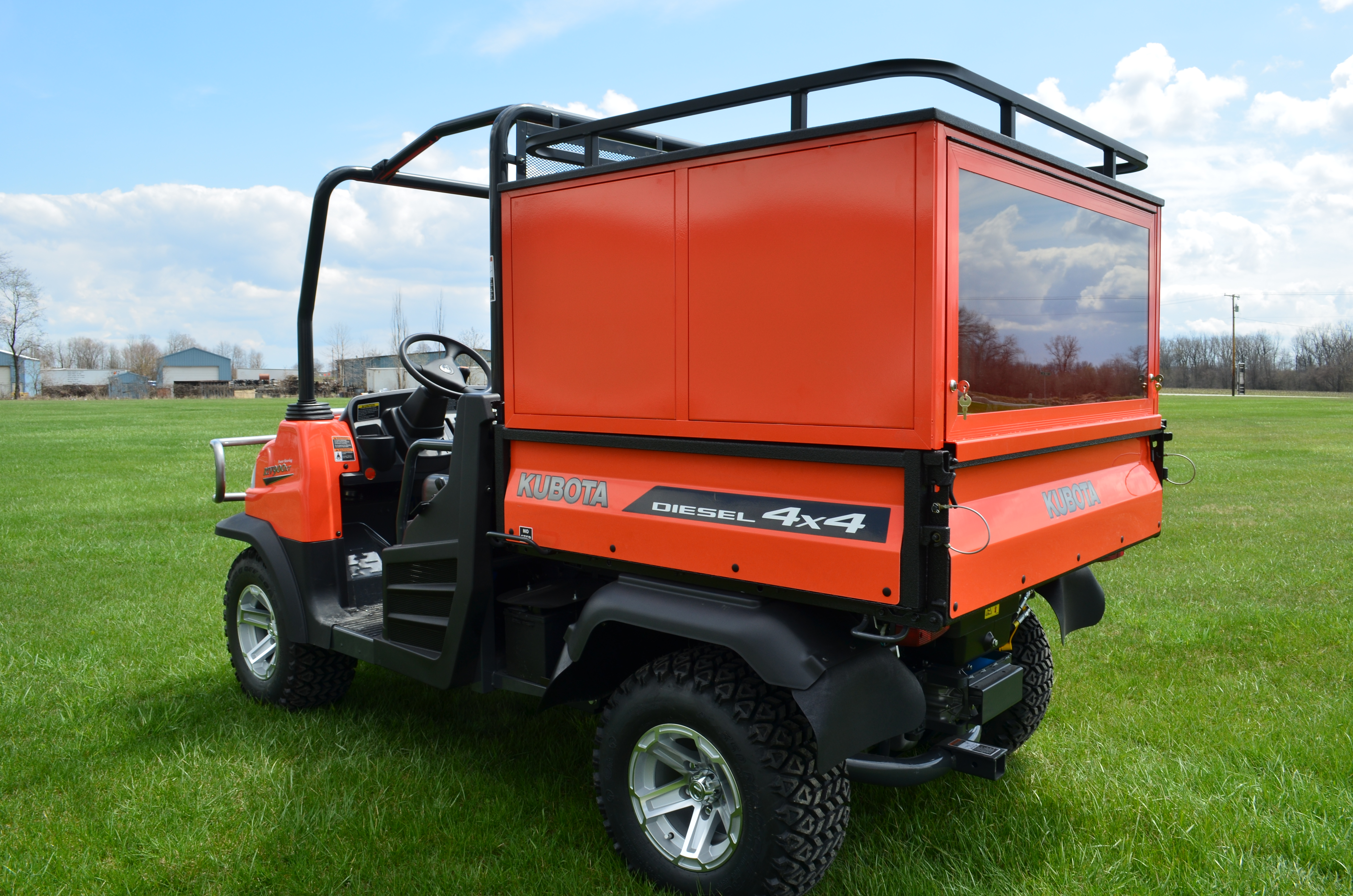 Kubota Lift Cover : Quot high cabinet with glass door above tailgate