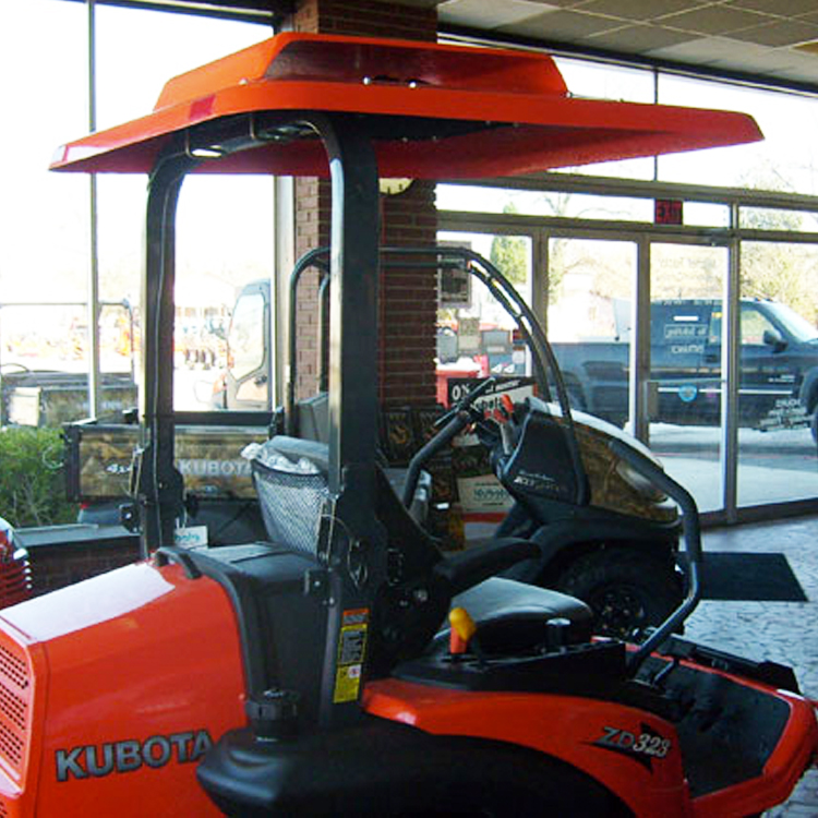 & Fiberglass Tractor Canopy with Down-Draft Fan - Orange