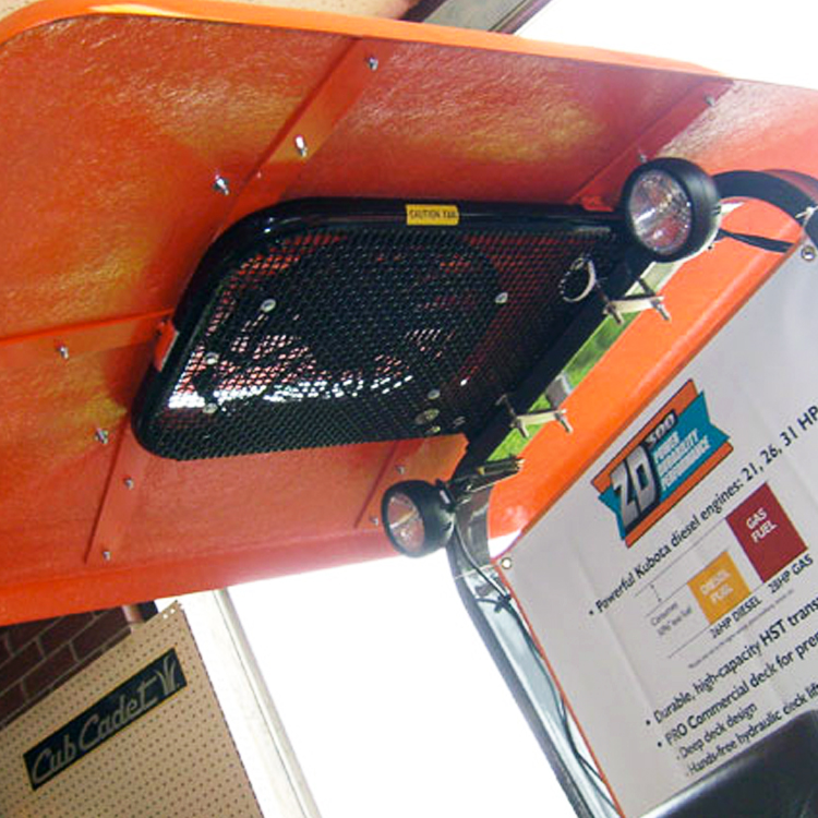 Tractor Canopy With Down Draft Fan Orange