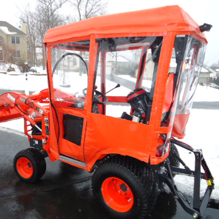 & Tractor Cab Enclosure for Kubota BX Series Tractors - Requires Canopy