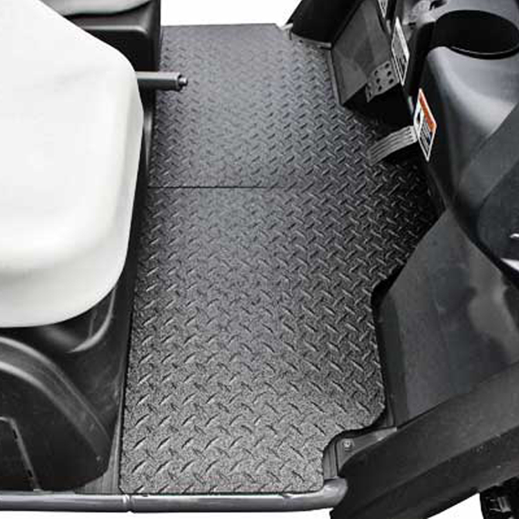 Diamond Plate Aluminum Floor Mats With Black Line X For