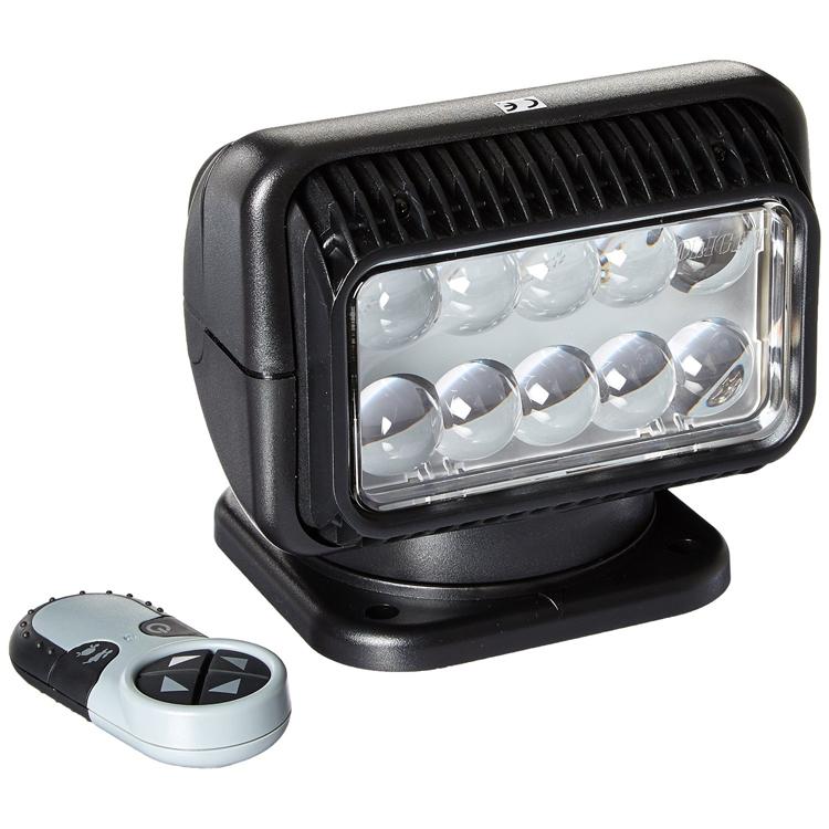 12 volt led spot light with wireless remote black. Black Bedroom Furniture Sets. Home Design Ideas