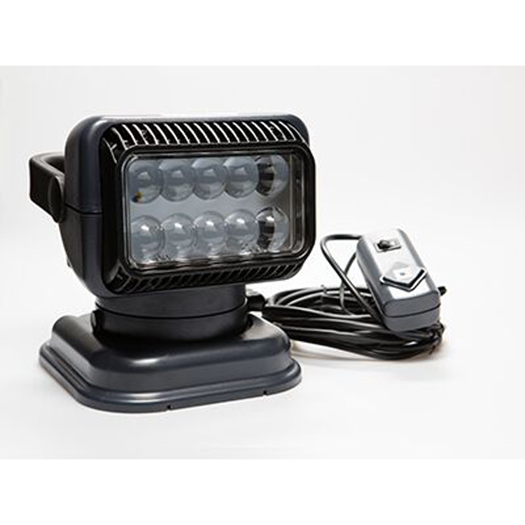 12 Volt Portable Led Spot Light With Wireless Remote Black