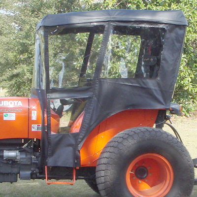 & Tractor Cab for Kubota M Series Tractors - Requires Canopy
