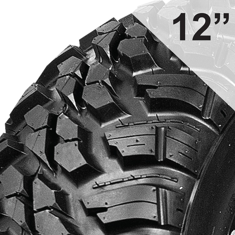 10-Ply Rated Tires for 12 Inch Wheels