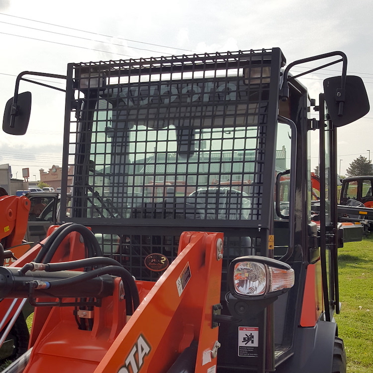 Front Protective Screen With Light Protectors For Kubota