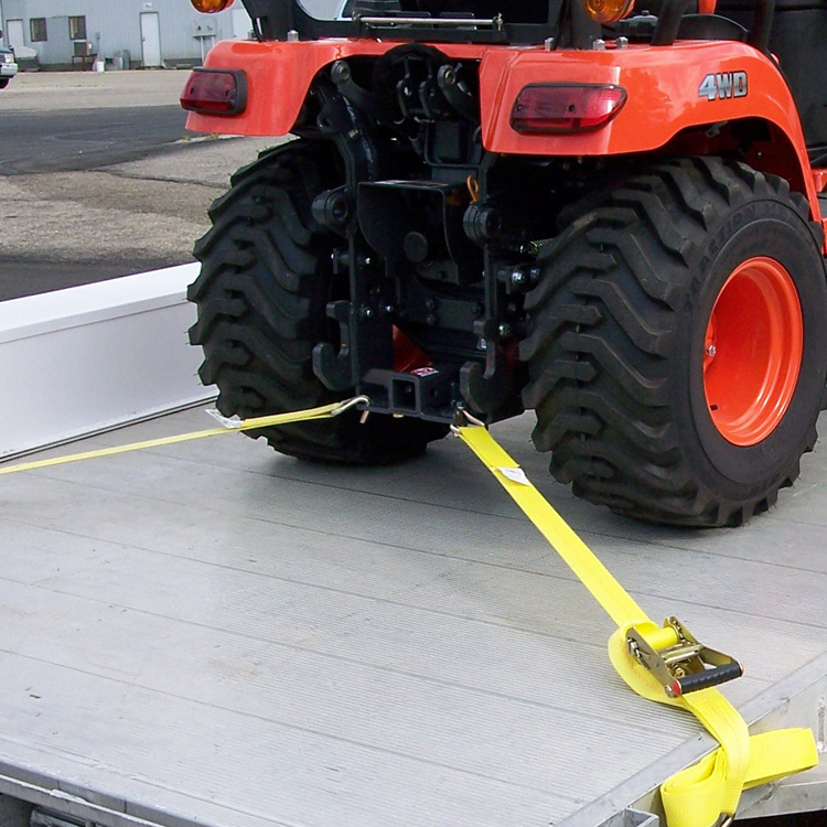John Deere Tractor Tie Downs : Rear receiver hitch with built in tie downs for kubota bx