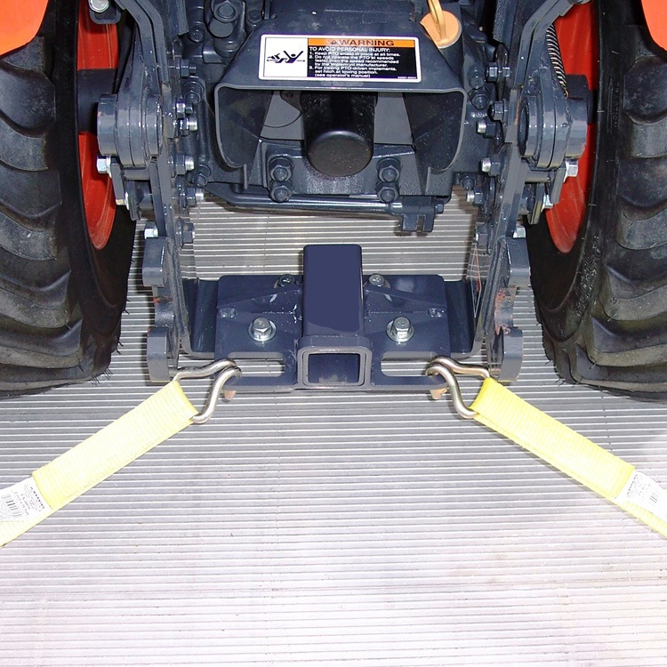 Rear Receiver Hitch With Built In Tie Downs For Kubota Bx