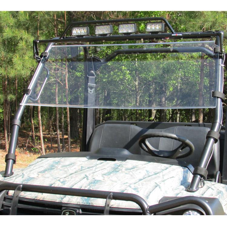 Gator Hpx Winch Mount : Versashield quot in acrylic windshield for john deere