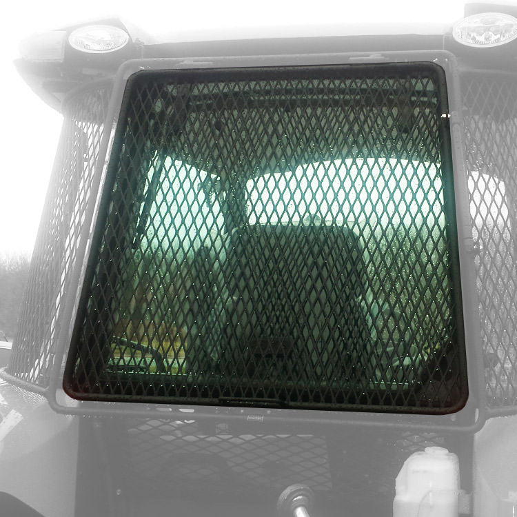 Tractor Rear Window Protection : Rear rock screen guard for kubota tractors m s