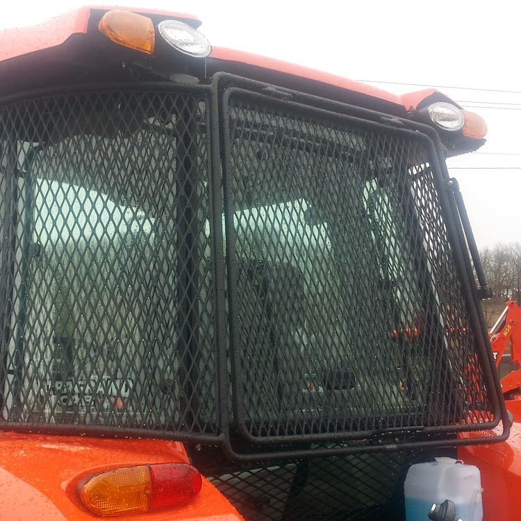 Tractor Rear Window Protection : Protective cage for kubota m cab models