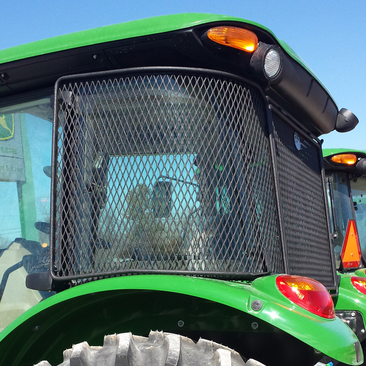 Tractor Rear Window Protection : Protective cab screen for john deere  series