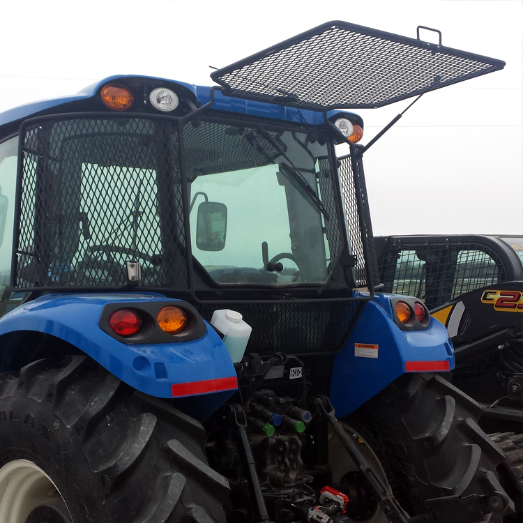 Tractor Rear Window Protection : Protective cage for new holland t series cab tractors