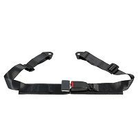 "2"" Lap Belt Black, Bolt-In (Set of 2)"