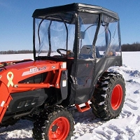 Cab Enclosure for Kioti CK Series Tractors with Folding Roll Bar (Requires Aftermarket Fiberglass Canopy)