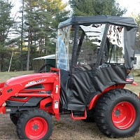 Cab Enclosure for Kioti CK Series Tractors with Folding Rollbar. Fits CK27, CK30, CK35 (Requires Fiberglass Canopy)