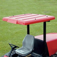 Wide Folding Plastic Sunshade for Mowers & Tractors (Red)