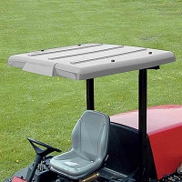 Wide Folding Plastic Sunshade for Mowers & Tractors (Gray)