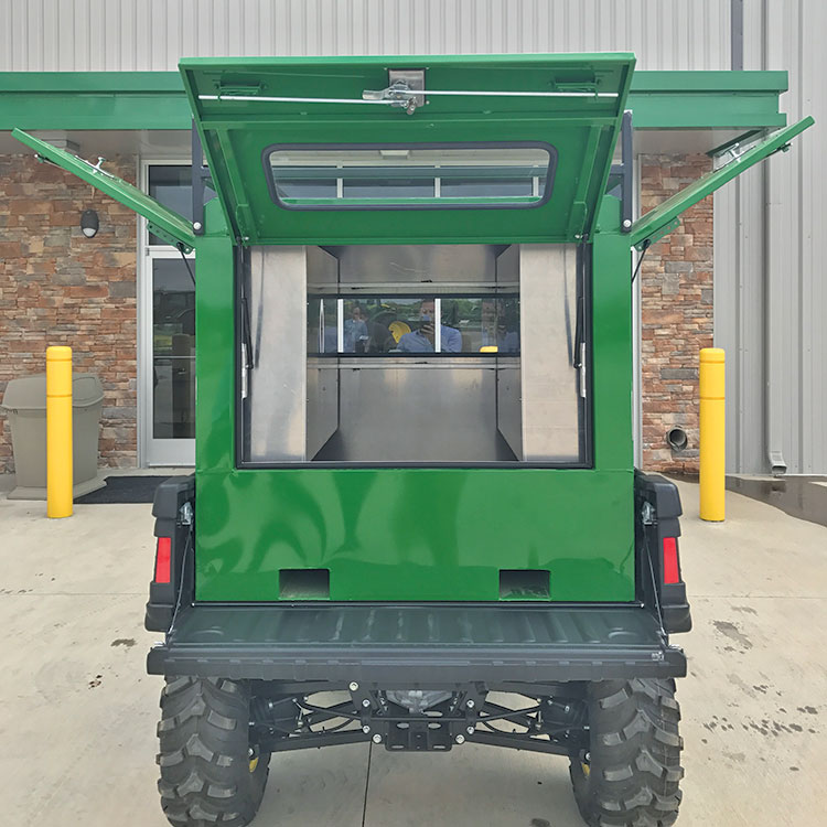 Utility Bed Box With 3 Gull Wing Doors For John Deere Gator