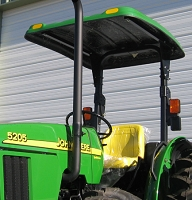 P20 Series Fiberglass Canopy for Tractors (Green - 52