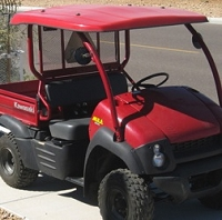 Fiberglass Canopy for Compact Utility Vehicles