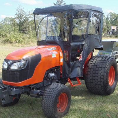 tractor cab for kubota m series tractors requires canopy. Black Bedroom Furniture Sets. Home Design Ideas