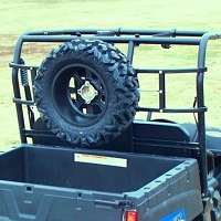 Power-Ride Utility Vehicle Spare Tire Rack - For Rollbars 50