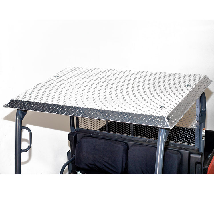 Homeu003eDEPARTMENTSu003eCANOPIES u0026 SUNSHADESu003eCANOPIES - TRACTOR u003e Diamond Plate Aluminum Roof for Kubota RTV-X900 and RTV-X1120  sc 1 st  Wiedmann Bros & Diamond Plate Aluminum Roof for Kubota RTV-X900 and RTV-X1120