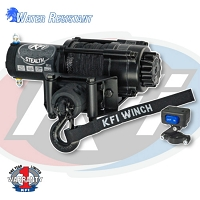 KFI Stealth Series 2500 lb Winch - Synthetic Cable