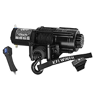 KFI Stealth Series 4500 lb Winch (Wide) - Synthetic Cable