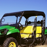 Fabric Sunshade Kit for John Deere 550 S4 - Black