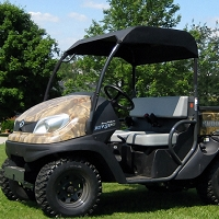 Fabric Sunshade Kit for Kubota RTV400 & RTV500 - Black