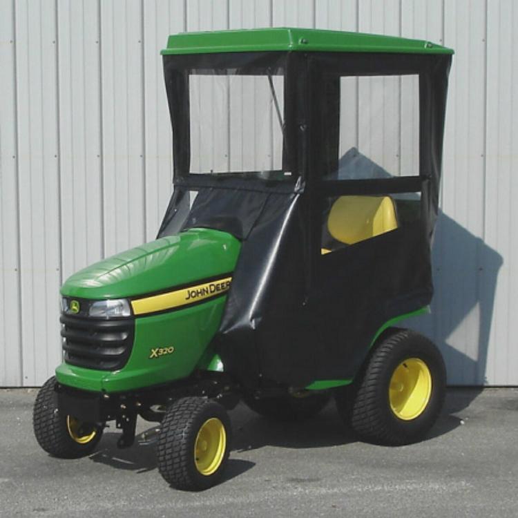 John Deere Lawn Tractors X300 Series : Standard cab with hinged doors for john deere series