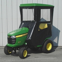 STANDARD CAB WITH HINGED DOORS FOR JOHN DEERE X300 SERIES LAWN TRACTORS