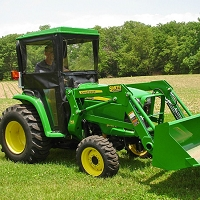 STANDARD CAB WITH HINGED DOORS FOR JOHN DEERE 3032E, 3038E