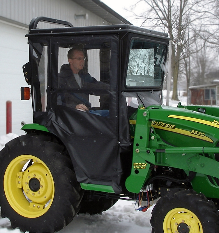 Tractor Door Glass : Hardtop cab with glass windshield electric wiper for