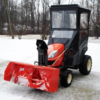 Standard Cab with Hinged Doors for the Kubota GR Series Lawn Tractors