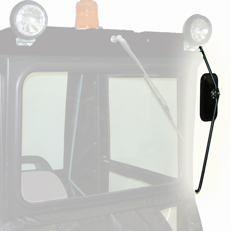 Kubota Tractor Rear View Mirror : Rear mirror kit for quot original tractor cab hardtop