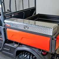 Side Mount Tool Box for the Kubota X-Series - Diamond Plate Aluminum