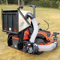PRO12 DFS (Dump From Seat) Commercial Zero Turn Vac System - 6.5 HP B&S Vanguard