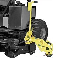 MOWER DECK MOUNTED STRING TRIMMER