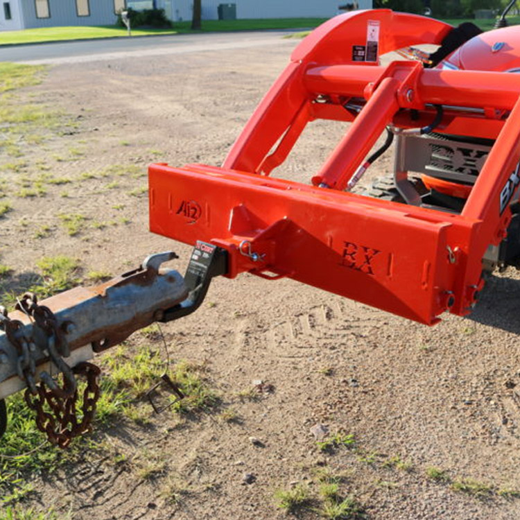 Kubota Bx Bumpers : Receiver hitch plate for kubota bx series tractors