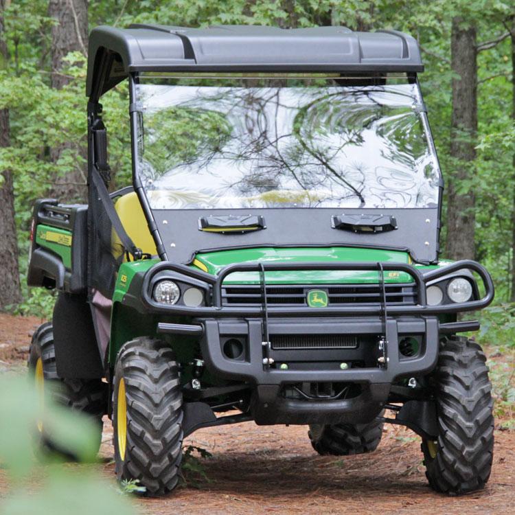 Gator Hpx Winch Mount : Versa vent polycarbonate windshield for the john deere