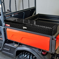 Side Mount Tool Box for the Kubota X-Series - Diamond Plate with Black Powder Coat Finish