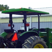 Tel-Trax 1200 Series Fiberglass Canopy Kit for John Deere 997 ZTrak Mower - Green