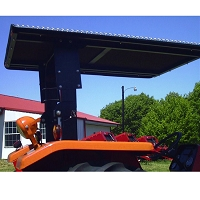 Tel-Trax 2000 Series TreadBrite Aluminum Canopy Kit for Larger Kubota Tractors with  3