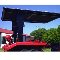 Tel-Trax 2000 Series TreadBrite Aluminum Canopy Kit for CaseIH Farmall 85U Tractor