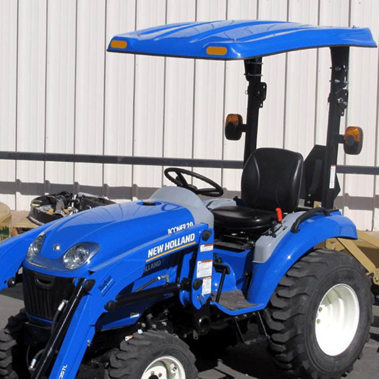 p10 series fiberglass canopy for tractors mowers blue 45 x 58