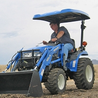 P10 Series Fiberglass Canopy for Tractors & Mowers (Blue - 46